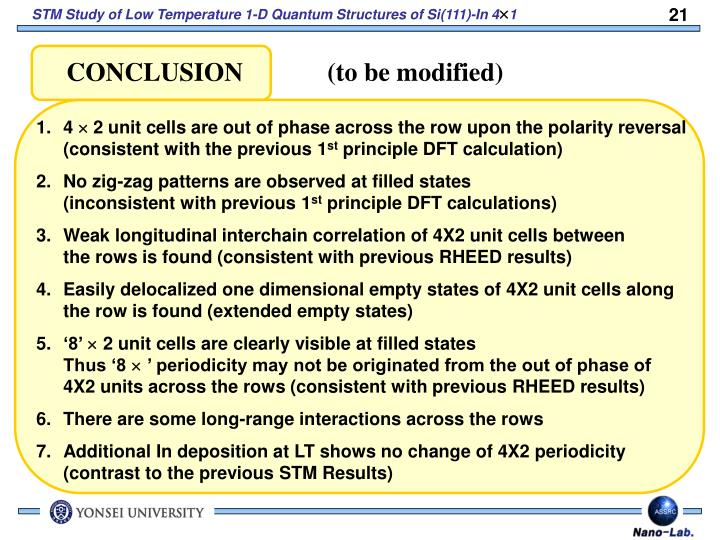 CONCLUSION             (to be modified)