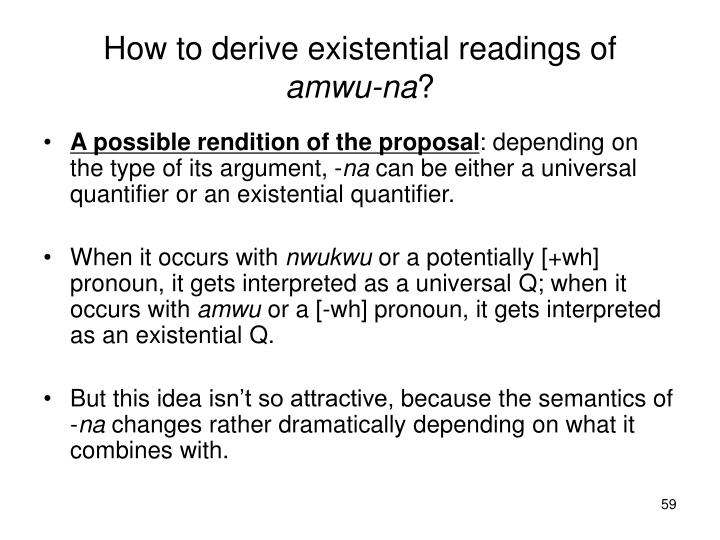How to derive existential readings of