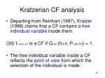 kratzerian cf analysis