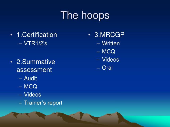 1.Certification