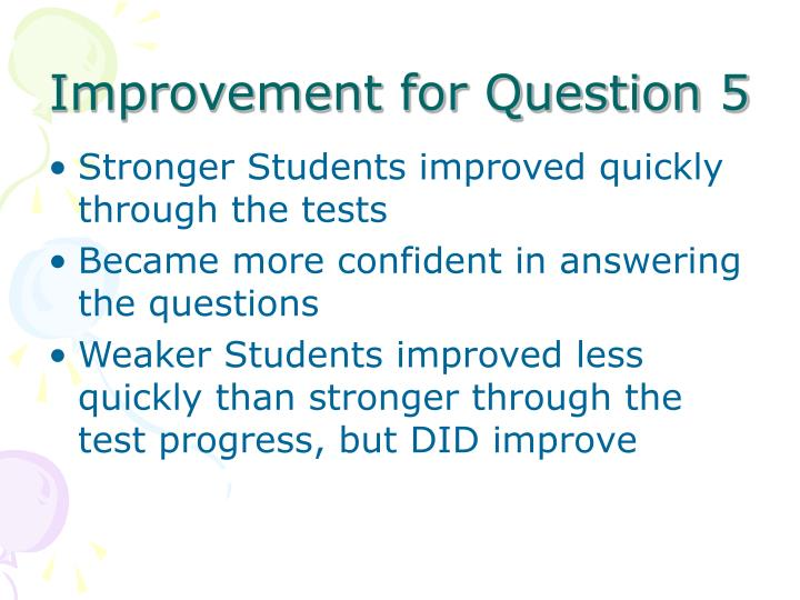 Improvement for Question 5