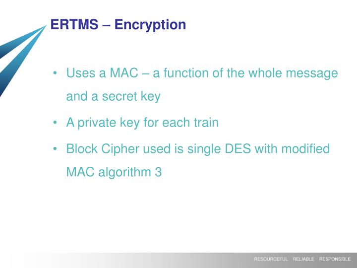 ERTMS – Encryption