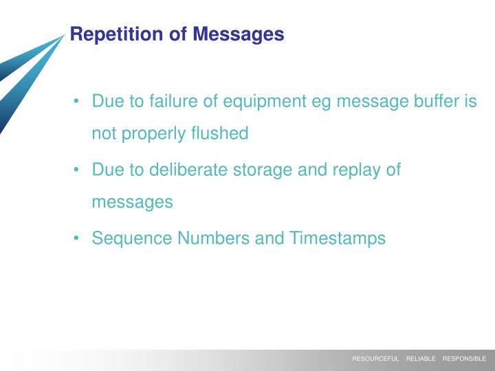 Repetition of Messages
