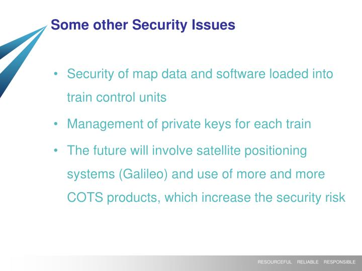 Some other Security Issues
