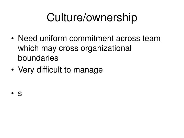 Culture/ownership