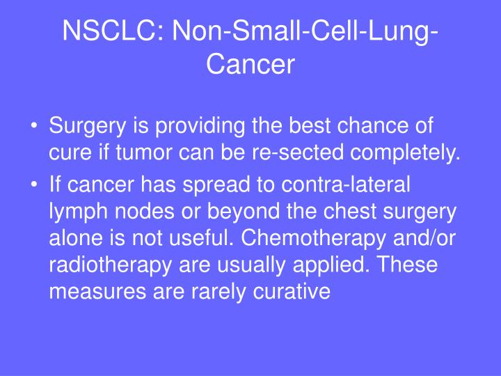 NSCLC: Non-Small-Cell-Lung-Cancer