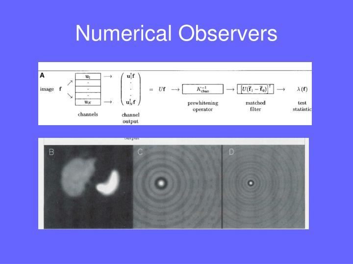 Numerical Observers