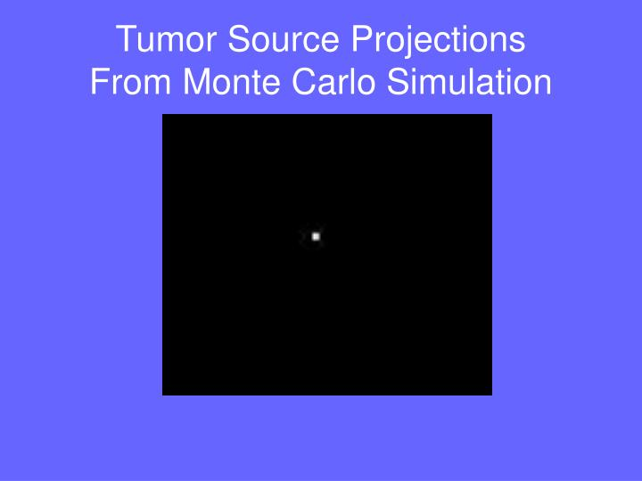 Tumor Source Projections