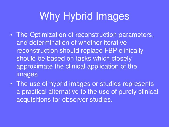 Why Hybrid Images