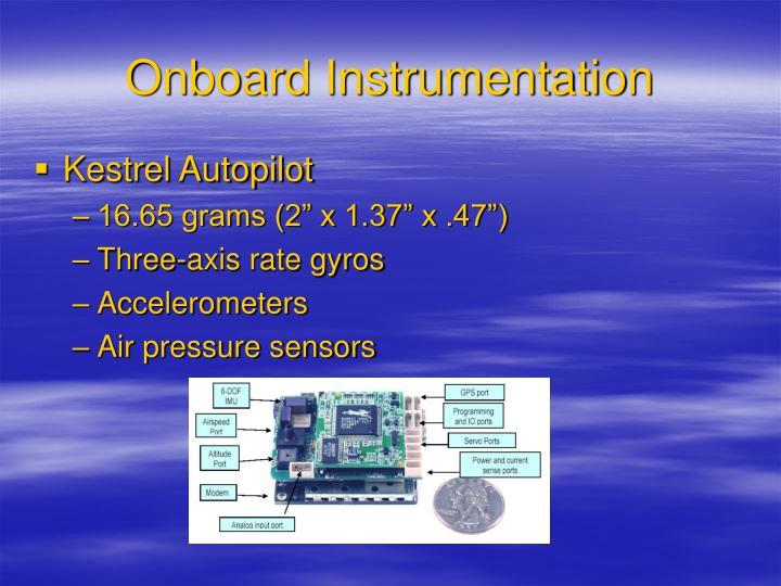 Onboard Instrumentation