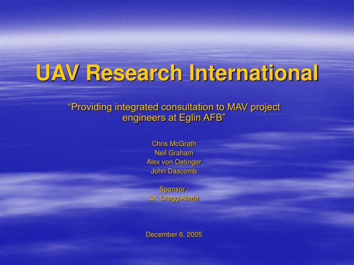 UAV Research International