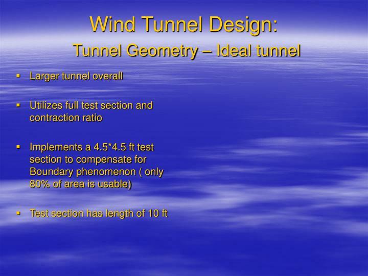 Wind Tunnel Design: