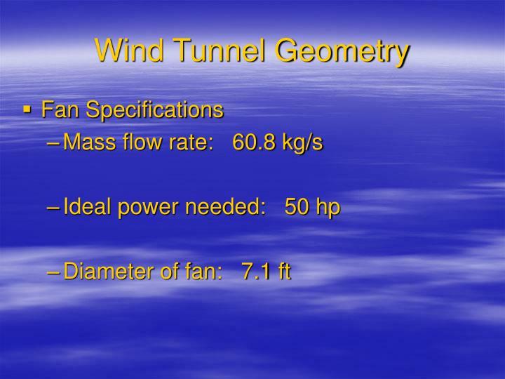 Wind Tunnel Geometry