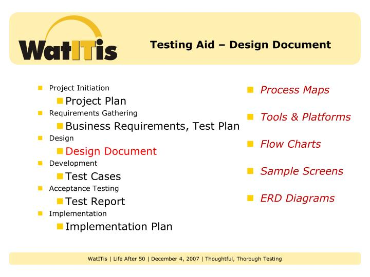 Testing Aid – Design Document