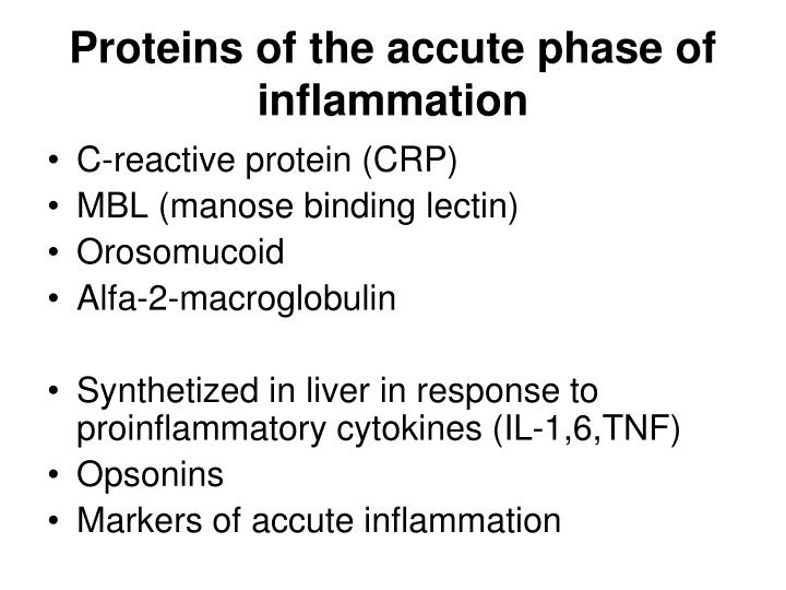 Proteins of the accute phase of inflammation