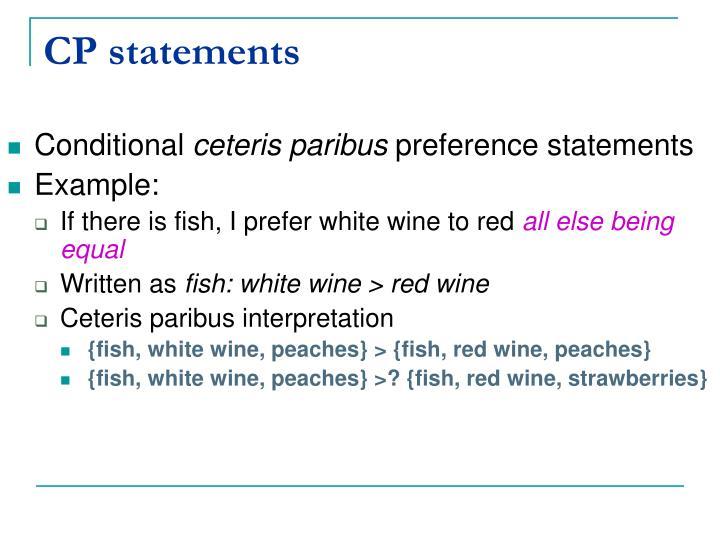 CP statements