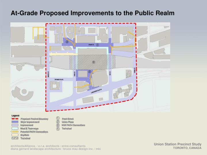 At-Grade Proposed Improvements to the Public Realm