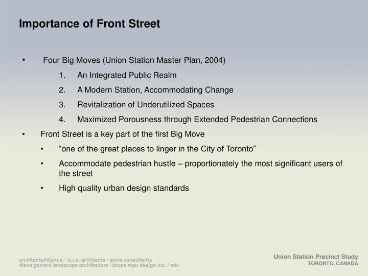 Importance of Front Street