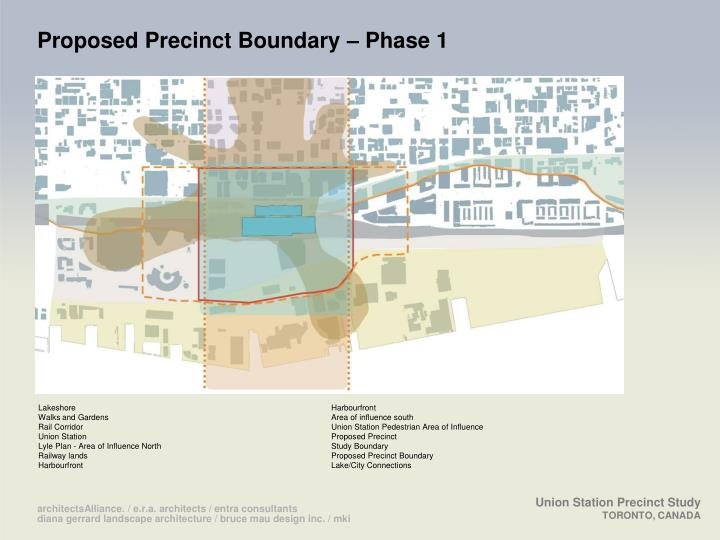 Proposed Precinct Boundary – Phase 1