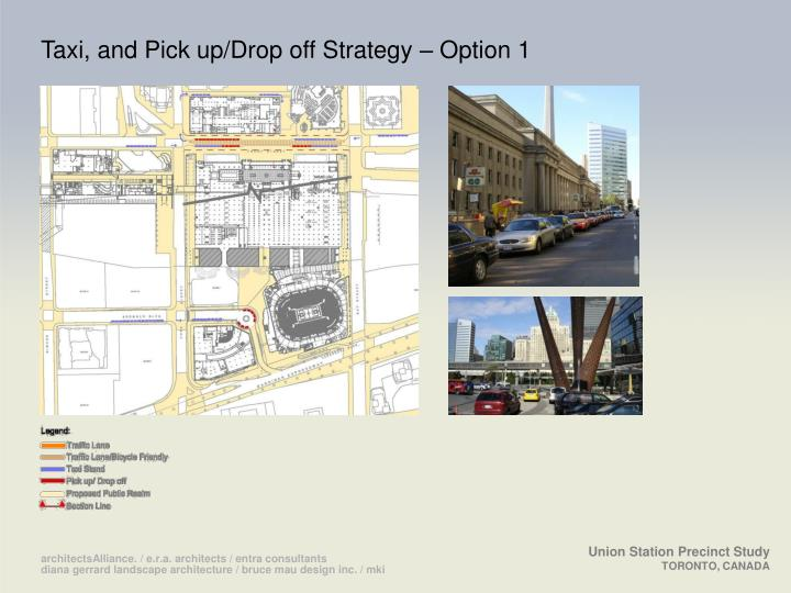 Taxi, and Pick up/Drop off Strategy – Option 1