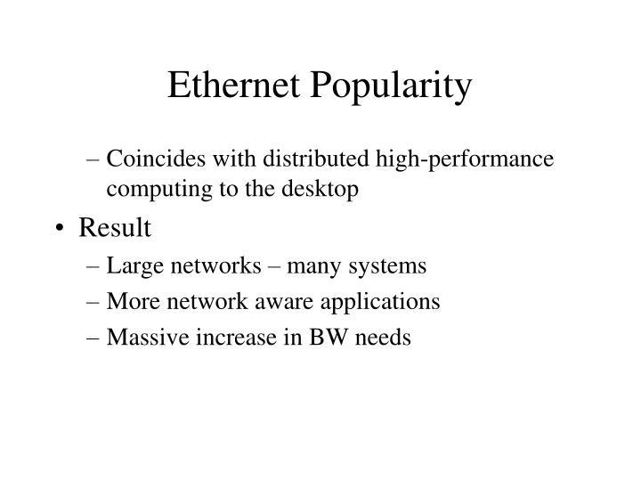 Ethernet Popularity