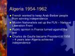 algeria 1954 1962