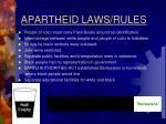 apartheid laws rules