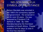 nelson mandela symbol of resistance