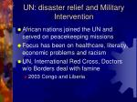 un disaster relief and military intervention