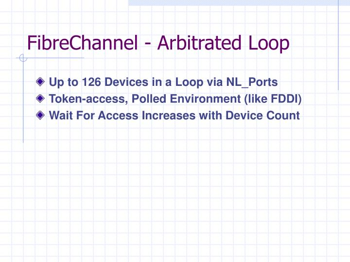 FibreChannel - Arbitrated Loop