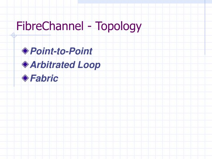 FibreChannel - Topology