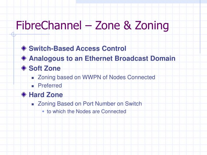 FibreChannel – Zone & Zoning