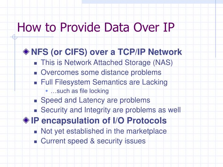 How to Provide Data Over IP