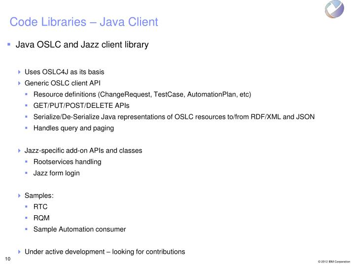 Code Libraries – Java Client
