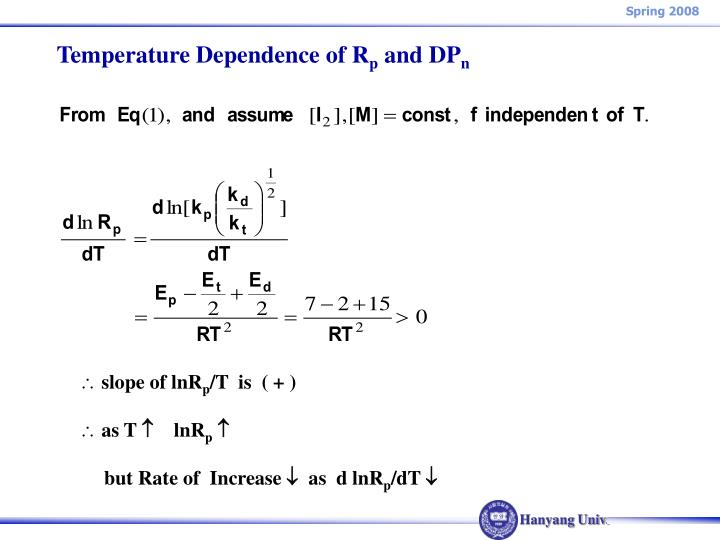 Temperature Dependence of R