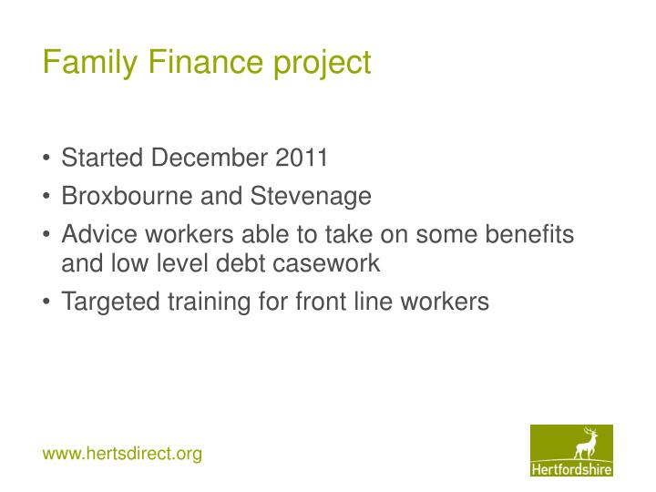 Family Finance project