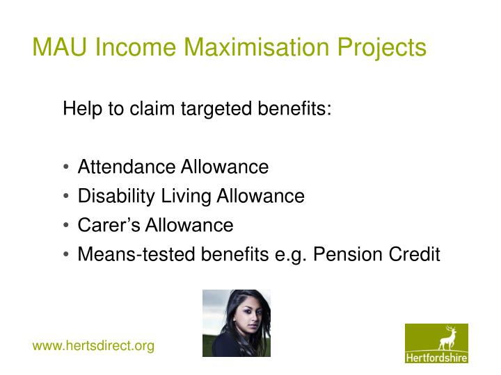 Help to claim targeted benefits: