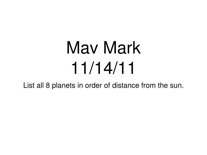 Mav Mark