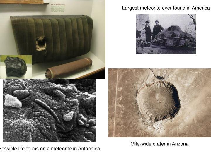 Largest meteorite ever found in America