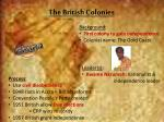 the british colonies