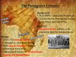 the portuguese colonies