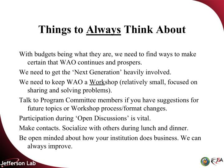 Things to