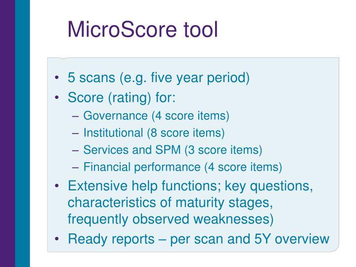 MicroScore tool