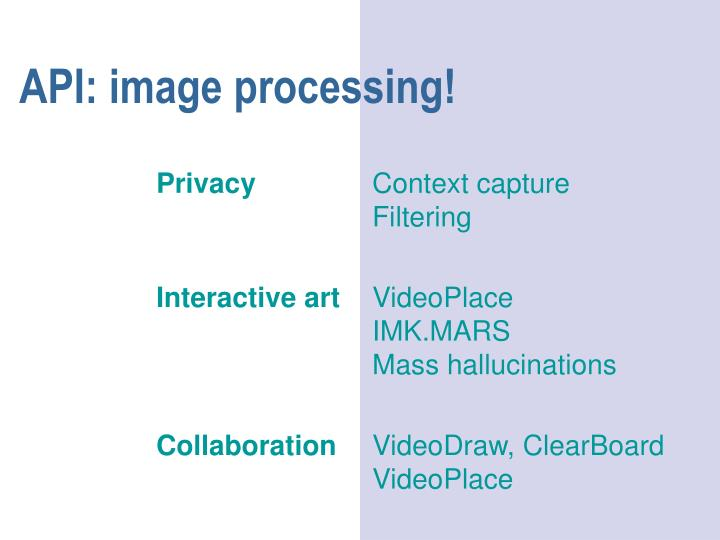 API: image processing!