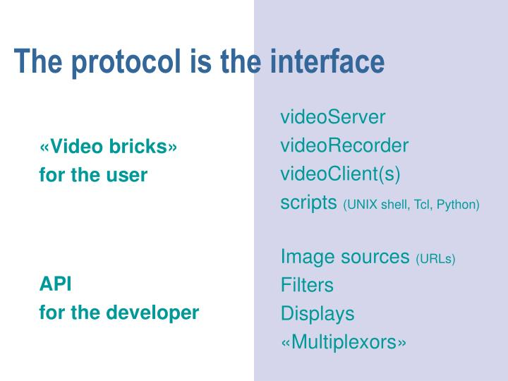 The protocol is the interface