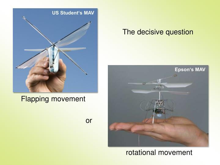 US Student's MAV