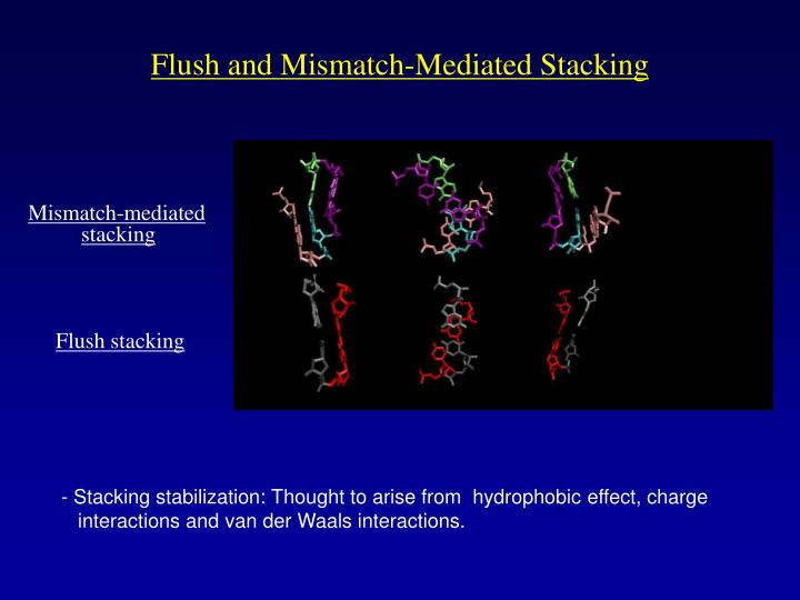 Flush and Mismatch-Mediated Stacking