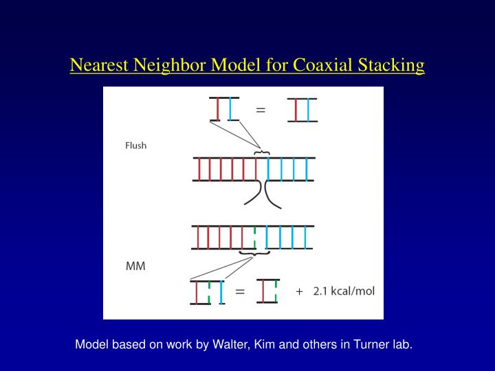 Nearest Neighbor Model for Coaxial Stacking
