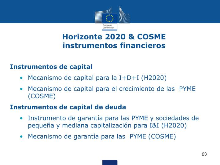 Horizonte 2020 & COSME