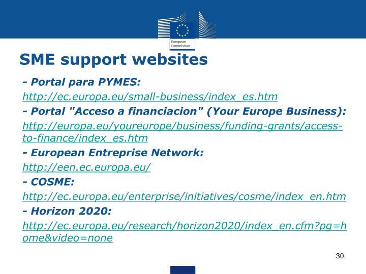 SME support websites